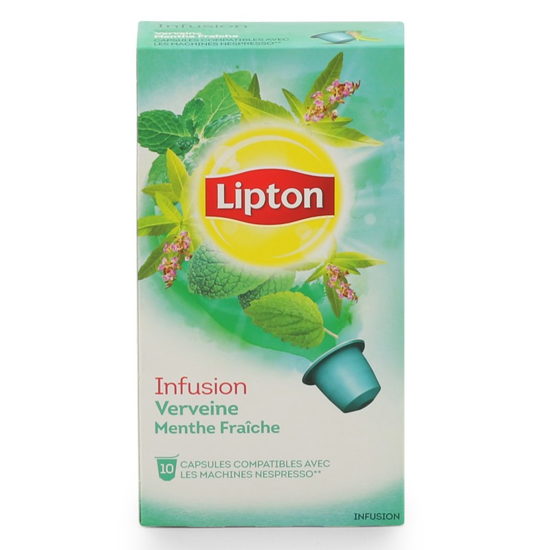 capsule nespresso compatible lipton infusion verveine menthe 3 boites 30 capsules coffee. Black Bedroom Furniture Sets. Home Design Ideas
