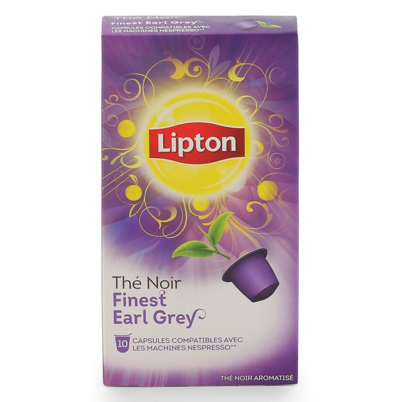 capsule nespresso compatible lipton th noir earl grey 12 boites 120 capsules coffee webstore. Black Bedroom Furniture Sets. Home Design Ideas