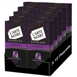 "Capsule Nespresso Compatible Carte Noire n°11 Espresso ""Puissant"" 10 boites - 100 Capsules"