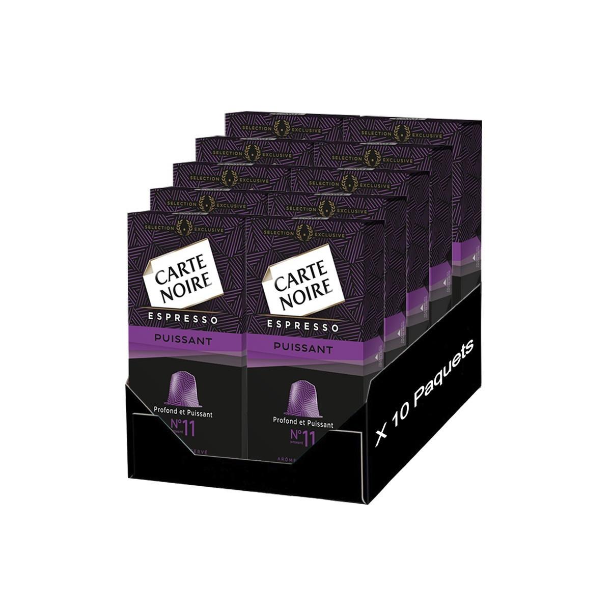 Capsule Nespresso Compatible Carte Noire n°11 Espresso 'Puissant ...