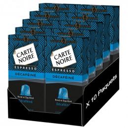 Capsule Nespresso Compatible Carte Noire Espresso Déca 10 boites - 100 Capsules