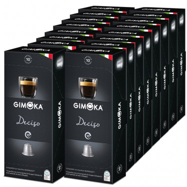 capsule nespresso compatible gimoka deciso 20 boites 200 capsules. Black Bedroom Furniture Sets. Home Design Ideas
