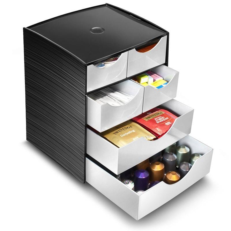 maxi module 4 petits tiroirs et 2 grands tiroirs rangement au bureau. Black Bedroom Furniture Sets. Home Design Ideas