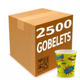 Gobelets Distributeur Automatique en Carton 15 cl - Color Pop Wow Jaune - par 2500