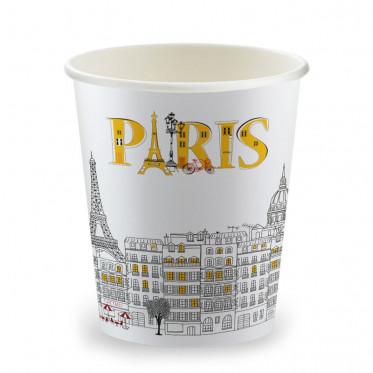 Gobelets Distributeur Automatique en Carton 15 cl - French Collection Paris - par 100