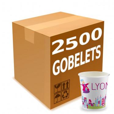 Gobelets Distributeur Automatique en Carton 15 cl - French Collection Lyon - par 2500