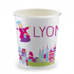 Gobelets Distributeur Automatique en Carton 15 cl - French Collection Lyon - par 100