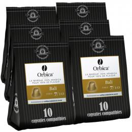 Capsules Nespresso Compatibles Orbica Bali - 6 paquets - 60 capsules