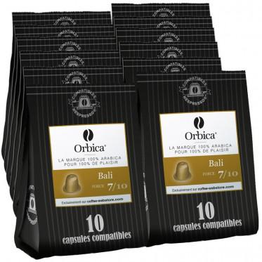 Capsules Nespresso Compatibles Orbica Bali - 12 paquets - 120 capsules
