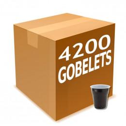 Bicolore en Plastique pour café expresso 10cl