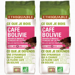 Café Moulu - Lot de 4 Paquets Éthiquable Bolivie Bio - 250 gr