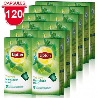 Capsule Nespresso Compatible Thé Vert Marrakesh Mint Lipton - 12 paquets - 120 capsules
