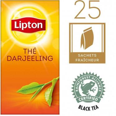 Thé Noire Lipton Thé Darjeeling : 25 sachets
