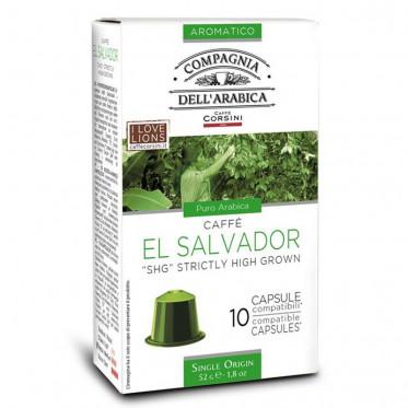 Capsule Nespresso Compatible Cie Dell'Arabica El Salvador - 10 capsules