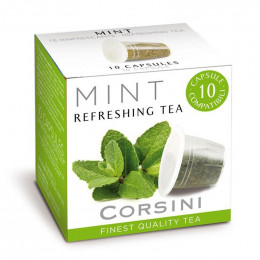Capsule Thé Nespresso Compatible Corsini Thé Menthe - 10 capsules