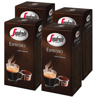 caf moulu lot de 4 paquets segafredo espresso casa 1 kg coffee webstore. Black Bedroom Furniture Sets. Home Design Ideas
