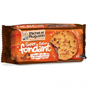 Super Cookies Coeur Fondant aux Noix de Pécan, Caramel et Chocolat Noir - 180 gr
