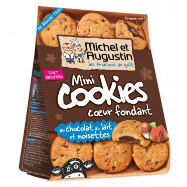 Mini Cookies Coeur Fondant au Chocolat au Lait et Noisettes - 150 gr