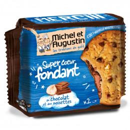 Super Cookies Coeur Fondant au Chocolat Lait et Noisettes - 60 gr