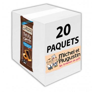 Petits carrés pas tout à fait carrés aux éclats de nougatine et chocolat au lait 73g - Carton 20 pièces