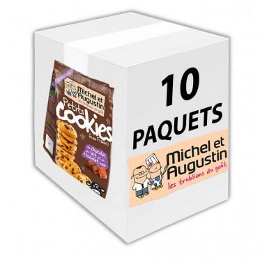 Petits Cookies From France au Chocolat au Lait et au Chocolat Noir - 150 gr - Carton 10 Sachets