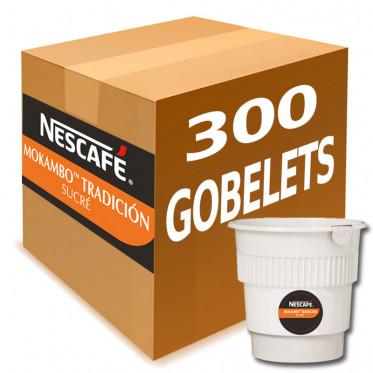 Gobelet Pré-dosé Café Nescafé Mokambo Tradicion Sucre - au carton 300 boissons