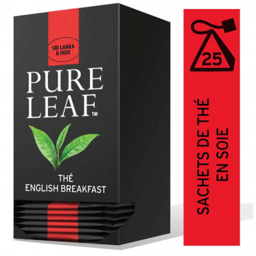 Thé Noir Pure Leaf English Breakfast - 25 pyramides