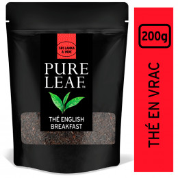 Thé Noir Pure Leaf English Breakfast- En Vrac - Poche 200 gr