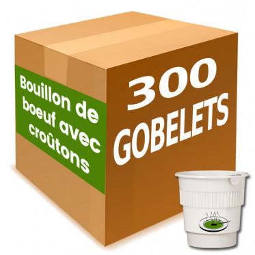 Gobelet Pré-dosé Potage Bouillon de Boeuf Avec Croutons - Carton 300 boissons