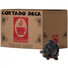 Capsule Dolce Gusto Compatible Café Cortado Déca - 50 capsules - Caffè Bonini