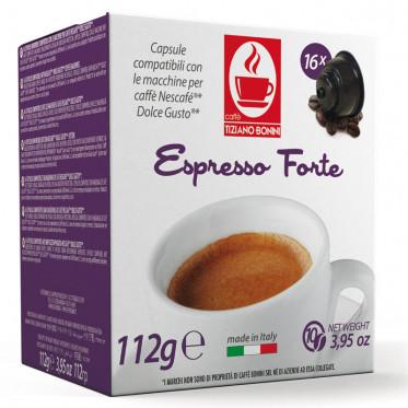 Capsule Dolce Gusto Compatible Café Espresso Forte - 10 capsules - Caffè Bonini