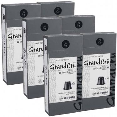 Capsules Nespresso Compatibles Grand Cru Excellence - 6 paquets - 60 capsules
