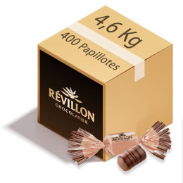 Carton de Papillotes Révillon : Chocolat praliné croustillant - Chocolat au lait - 4,6 Kg