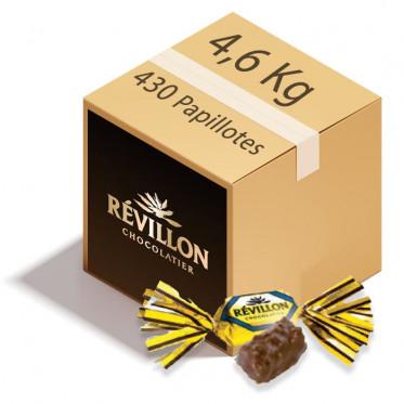Carton de Papillotes Révillon : Malakoff praliné au Chocolat au lait - 4,6 Kg