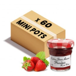 Confiture Bonne Maman - Mini pot en verre - Fraise - 60x 30g