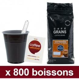 """Café en Grains Café de Paris Gastronome : Pack Pro """"Large"""" - 1200 boissons"""