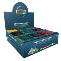 Coffret de Thés et Infusions Exclusive Sélection Lipton - 9 parfums -108 sachets pyramides