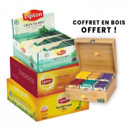 Pack 3 Coffrets de Thés Lipton - 300 sachets
