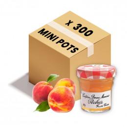 Confiture Bonne Maman - Mini pot en verre de confiture de Pêche - 300x 30g