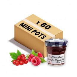 Confiture Bonne Maman - Mini pot en verre de gelée Groseille Framboisée - 15x 30g