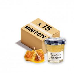 Confiture Bonne Maman - Mini pot en verre de miel d'Acacia - 15x 30g