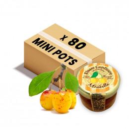 Confiture Elsass - Mini pot en verre de confiture de Mirabelle - 80x 28g