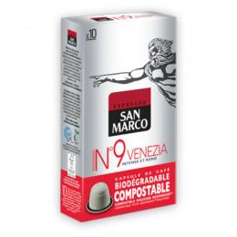 Capsules Nespresso compatible - biodégradable et compostable - N°9 Venezia - San Marco - 10 capsules