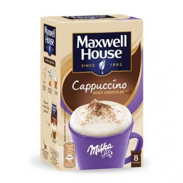 Café Gourmand Cappuccino Maxwell House goût Milka - 8 sticks