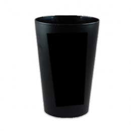 Gobelet réutilisable 15 cl - Noir - par 10