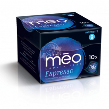 Capsule Nespresso Compatible Cafés Méo Espresso - 10 capsules