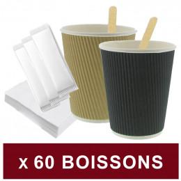 Gobelet en Carton Double Paroi 10 cl ramette 80 gobelets