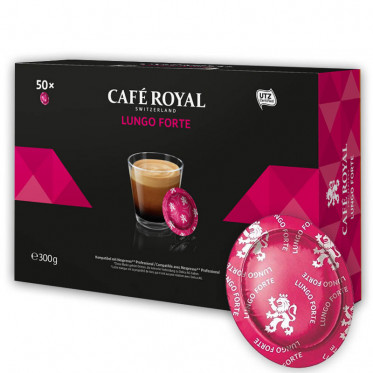 Capsule Nespresso PRO Compatible Café Royal Office Pads - Lungo Forte - 50 capsules