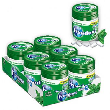 Chewing-gum Freedent Menthe Verte - Lot de 6 Box 84g - 360 dragées